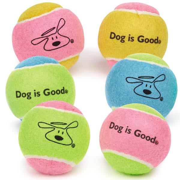 Six Pack of Tennis Balls – Dog is Good