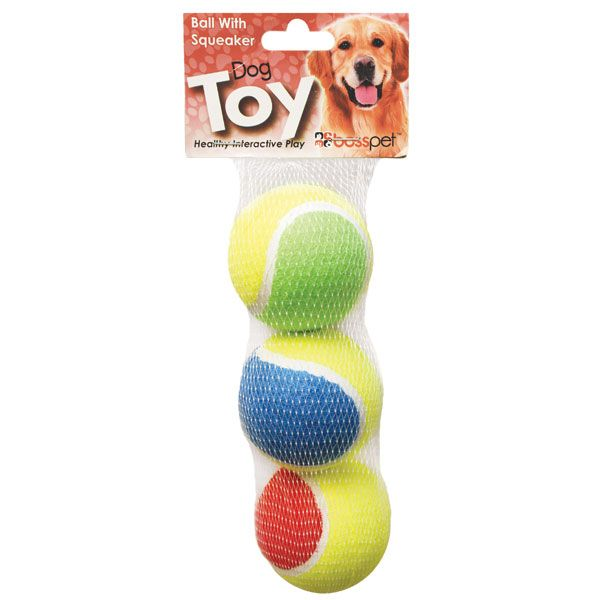 Diggers Squeaker Tennis Balls – Three Pack