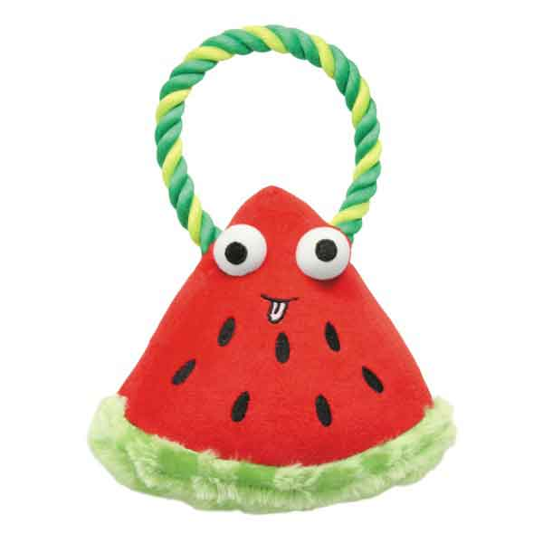 US1430 21 Grriggles Happy Fruit Rope Dog Toy Watermelon