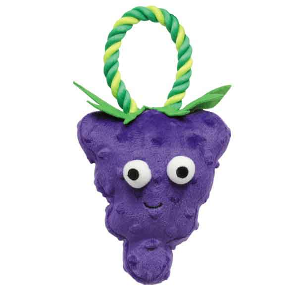 Grape US1430 22 Grriggles Happy Fruit Rope Dog Toy